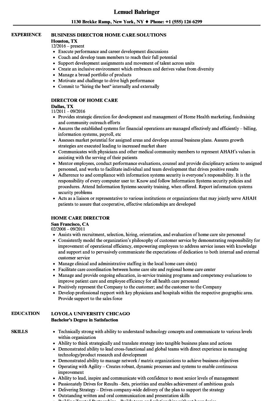 home care rn resume sample