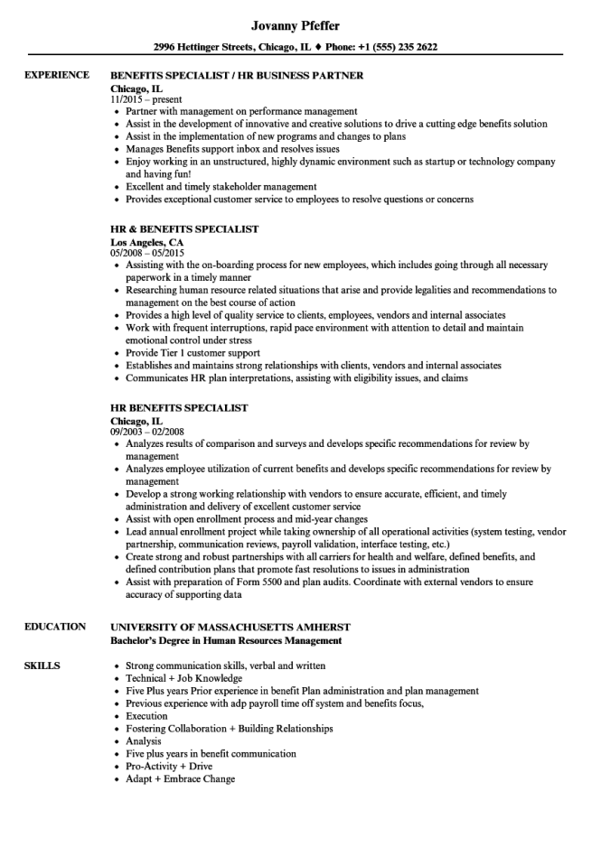 Human Resources Specialist Resume Nmdnconference Example
