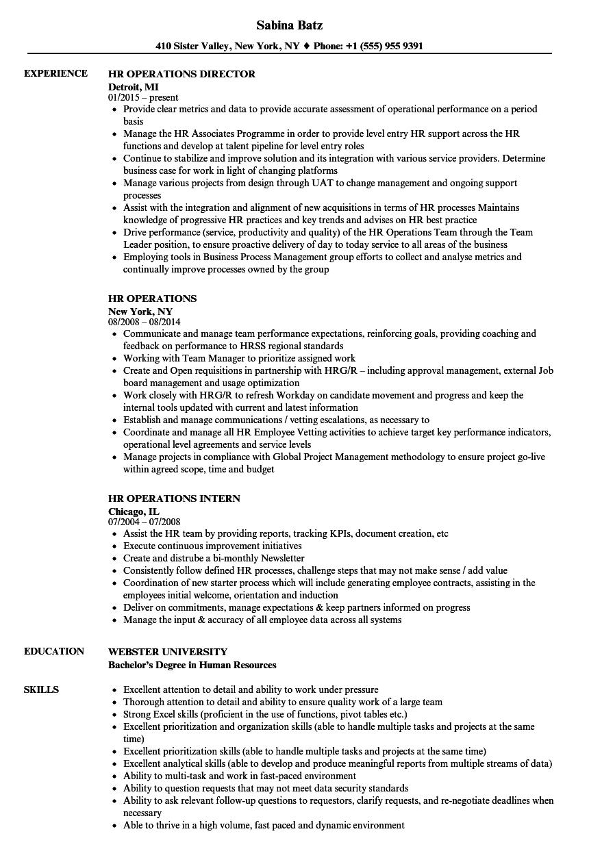 hr manager job resume sample