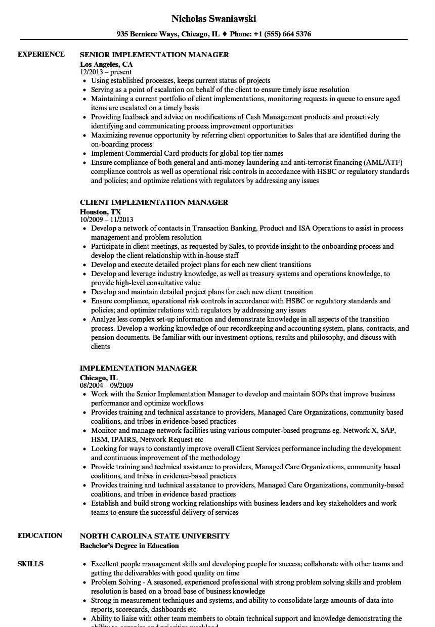 resume work experience service