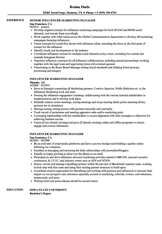 marketing manager sample resume pdf