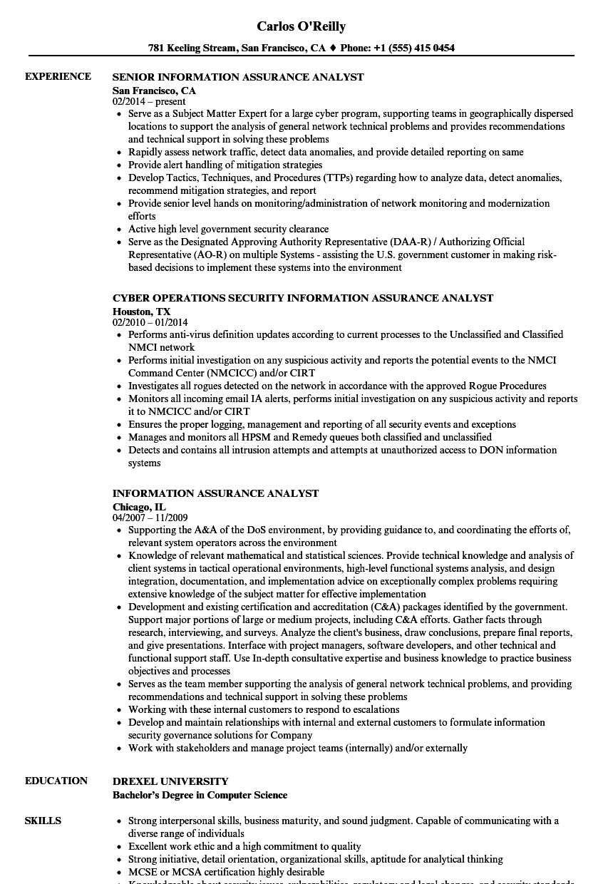 resume for information security