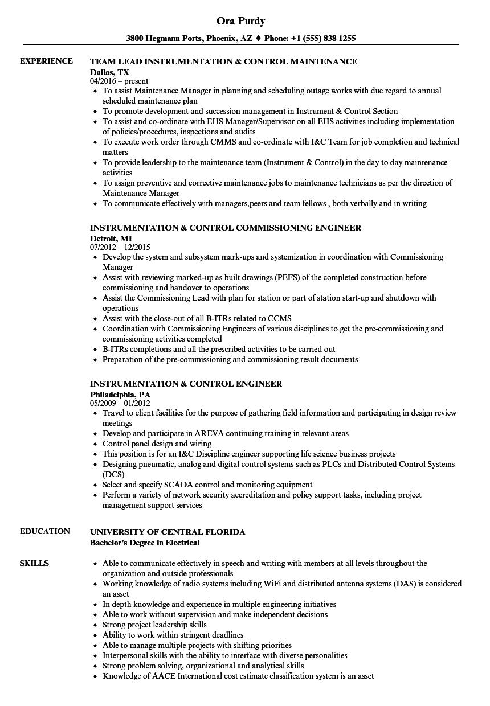 medium resolution of download instrumentation control resume sample as image file