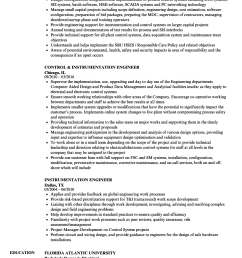 download instrumentation engineer resume sample as image file [ 860 x 1240 Pixel ]