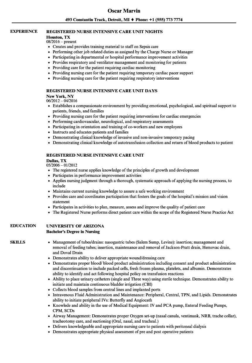 acute care nurse practitioner resume examples