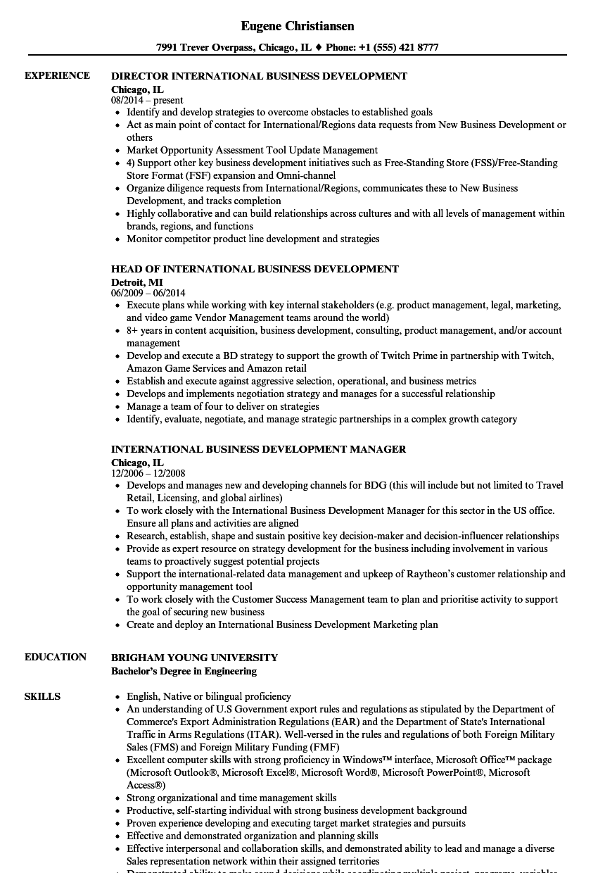 Related Job Titles Business Development Associate Resume Sample