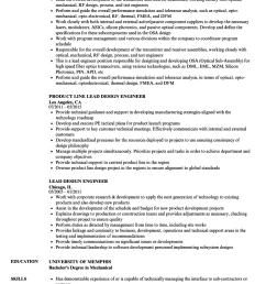 download lead design engineer resume sample as image file [ 860 x 1240 Pixel ]