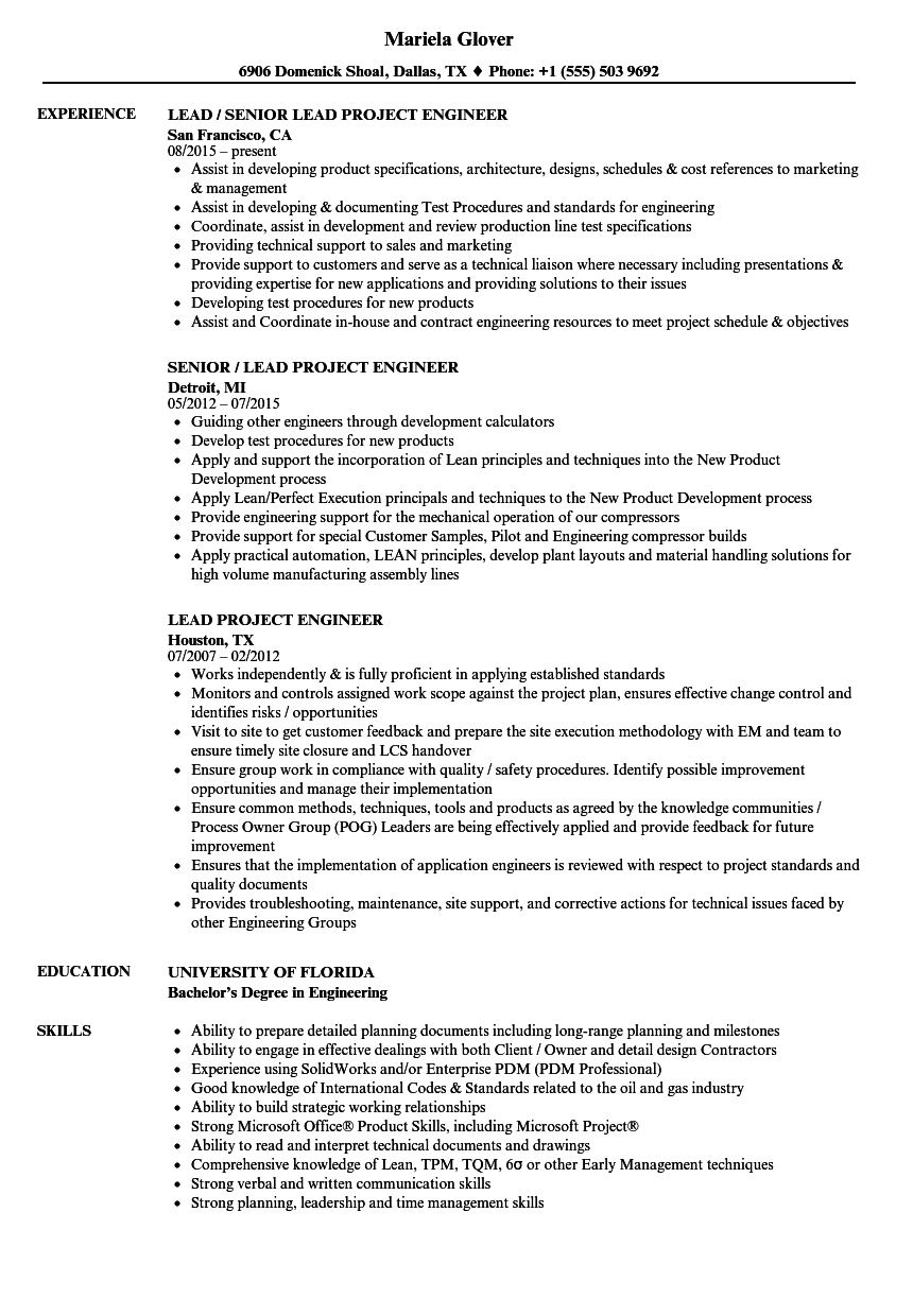 project controls manager resume examples