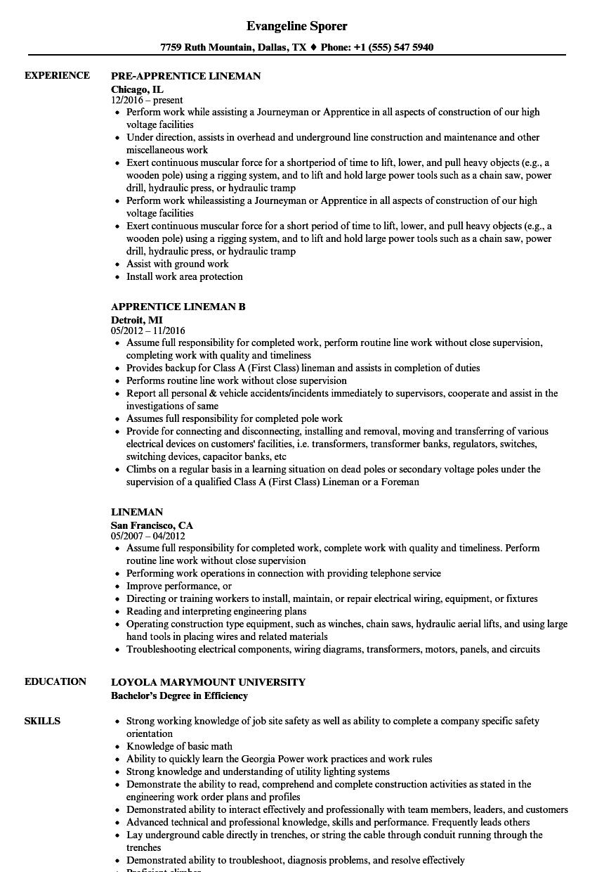 utility locator resume sample