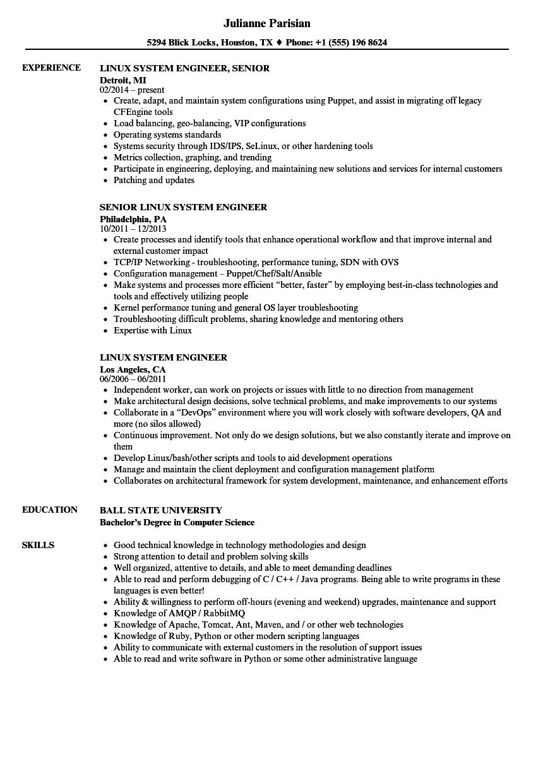 security system engineer resume sample