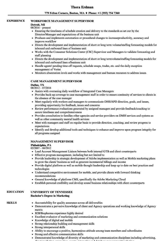Qc Supervisor Resume Samples