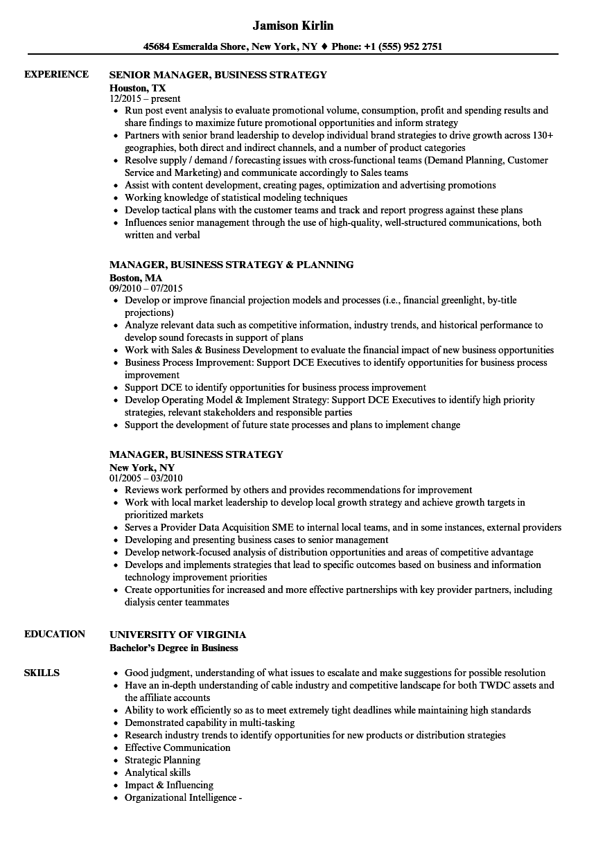 best project manager sample resume