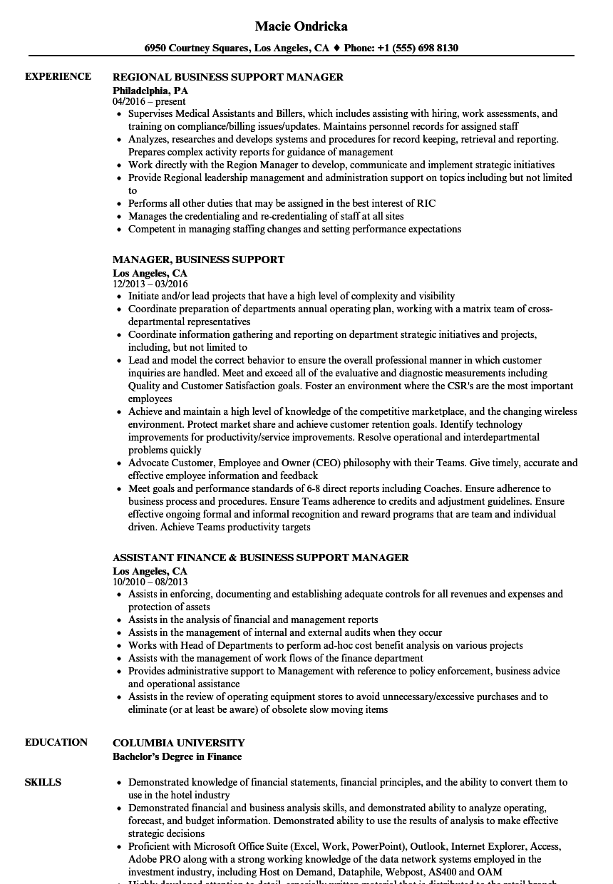 business office manager sample resume