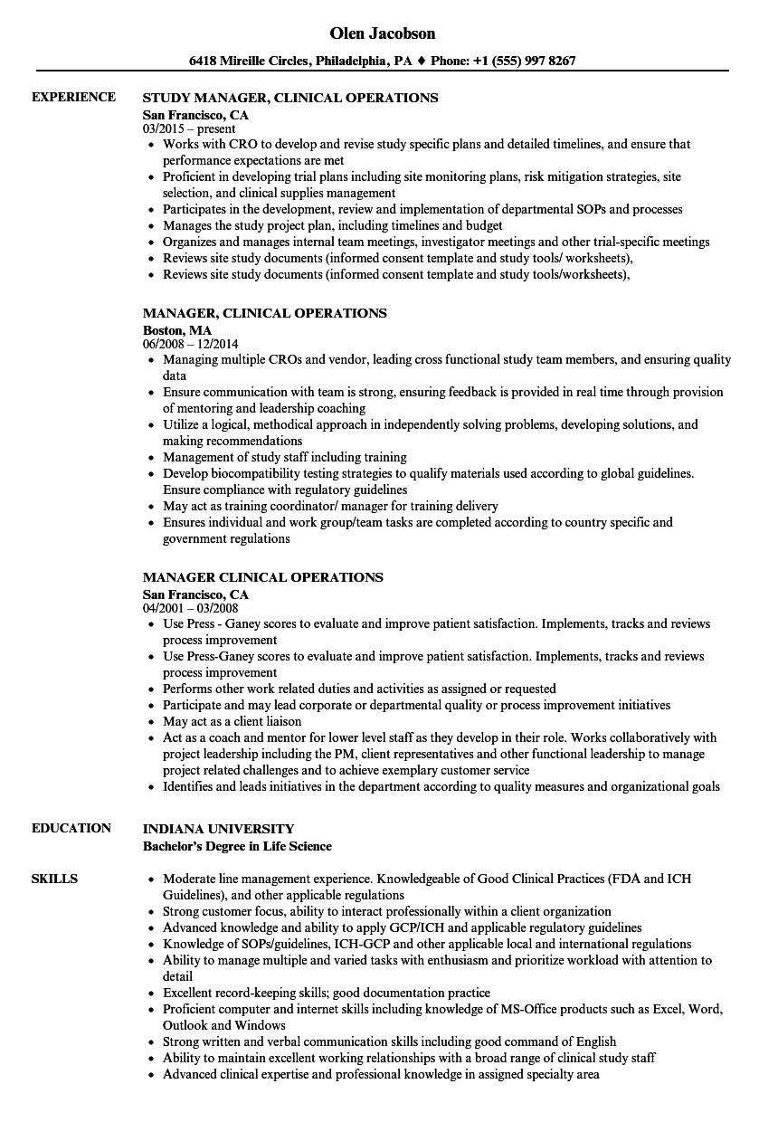 clinical director resume sample