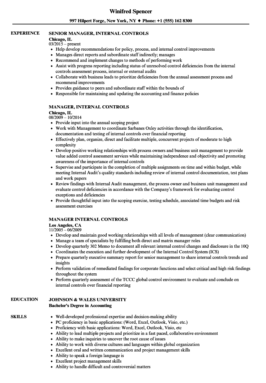 internal resume