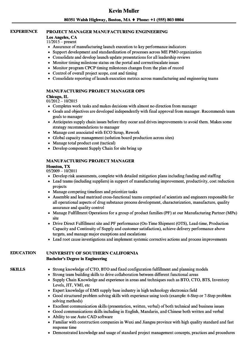 It Project Manager Resume ] | It Project Manager Resume, It Project ...