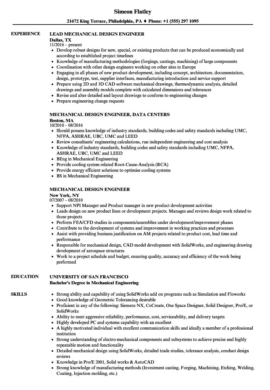 medium resolution of download mechanical design engineer resume sample as image file