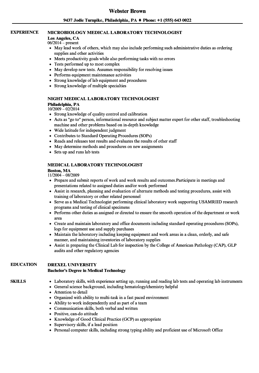 clinical microbiology resume samples