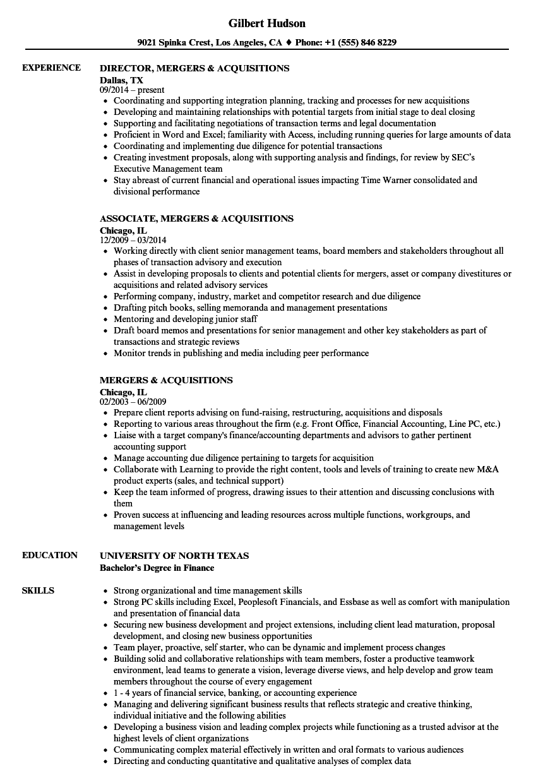 m a integration sample resume