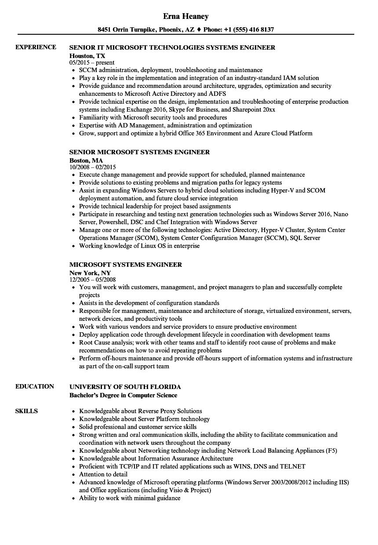 ms sql resume sample