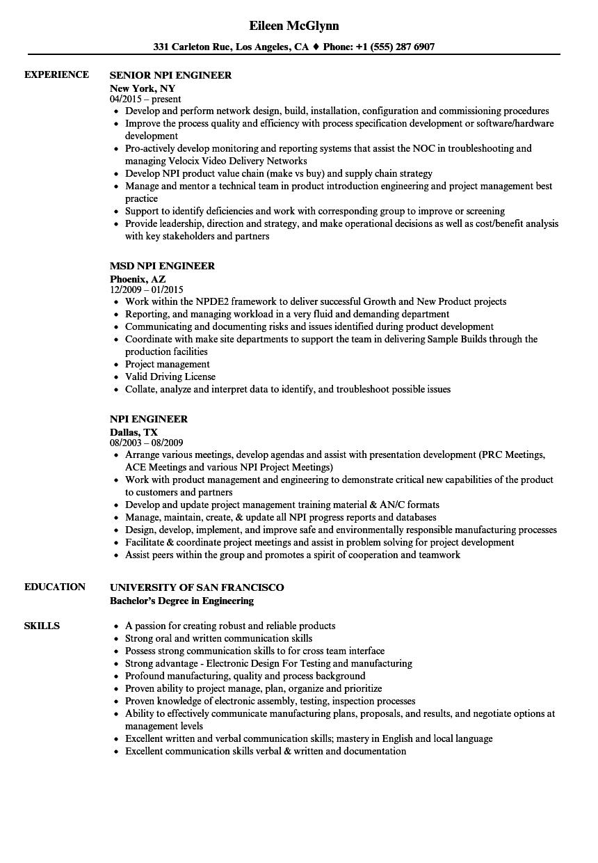 drainage engineer resume template