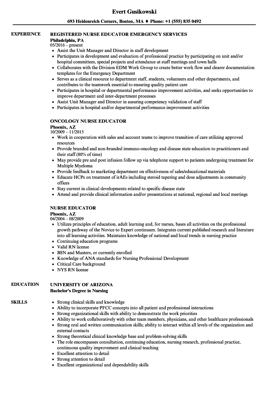 sample health educator resume objective