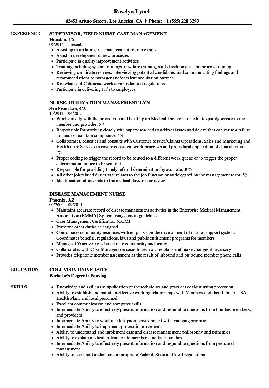 Download Nurse Management Resume Sample As Image File