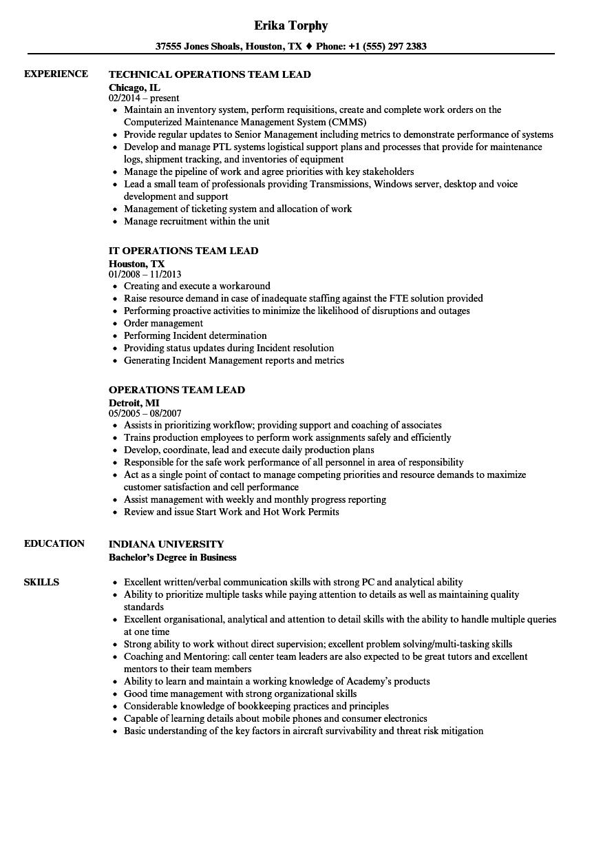Team Lead Experience Resume Sales Resume Sales Lead