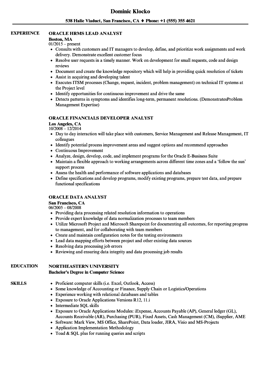 sample resume for d2k developer