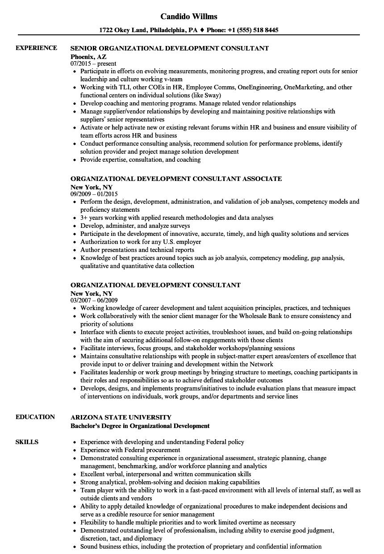 human capital consultant resume sample