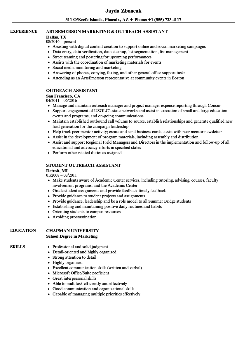 student pastor sample resume