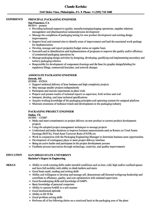 Resume Packing Job - Resume Examples | Resume Template