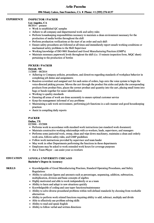 sealer sample resume