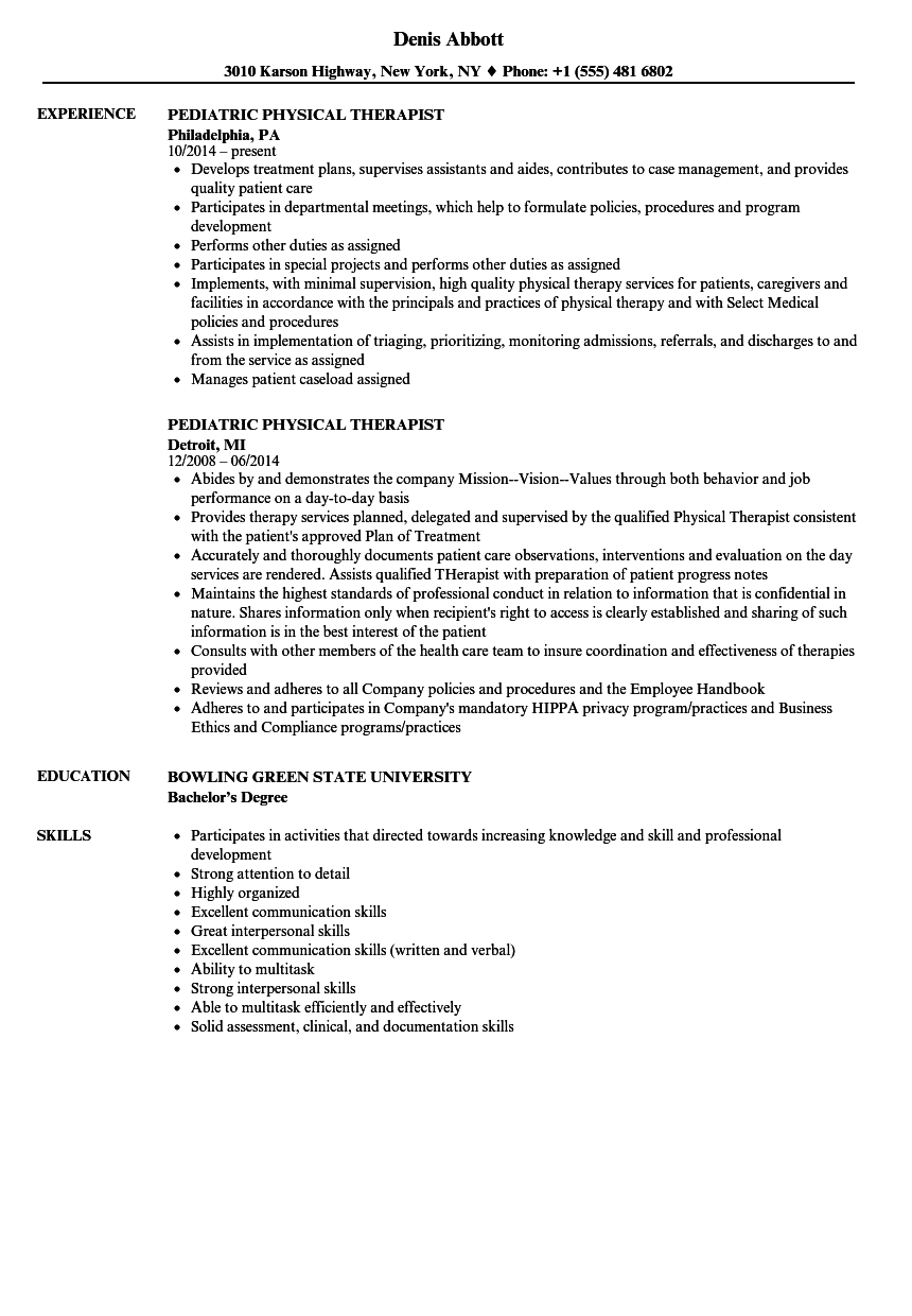 health and physical education resume sample
