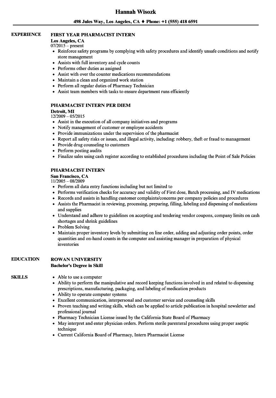 Great Pharmacy Technician Job Duties Resume Images