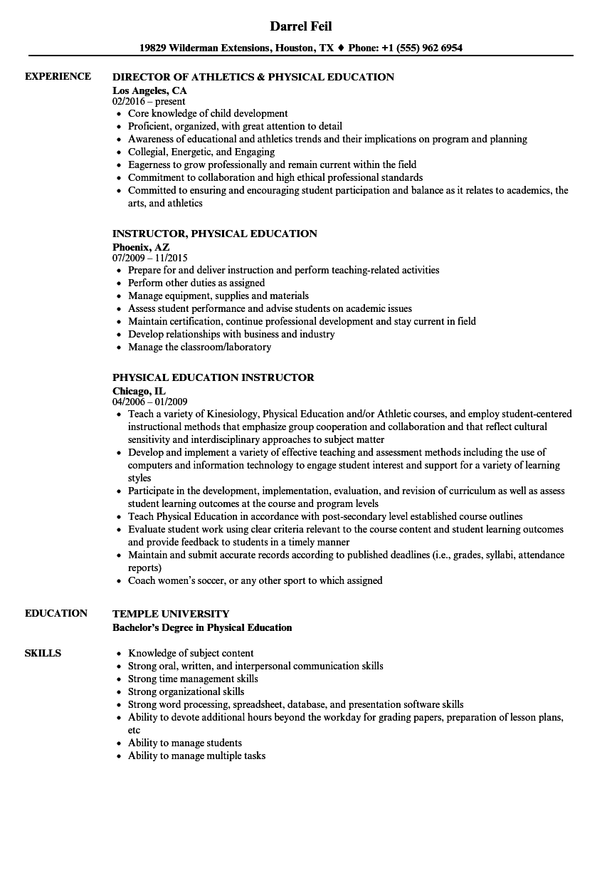 Teacher Resume Examples ] | Teacher Resume Examples, Teacher Resume ...