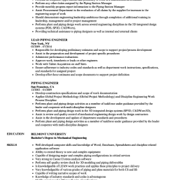 mechanical piping engineer resume [ 860 x 1240 Pixel ]