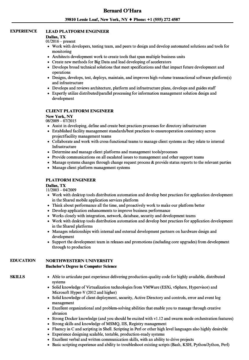 resume examples application engineer