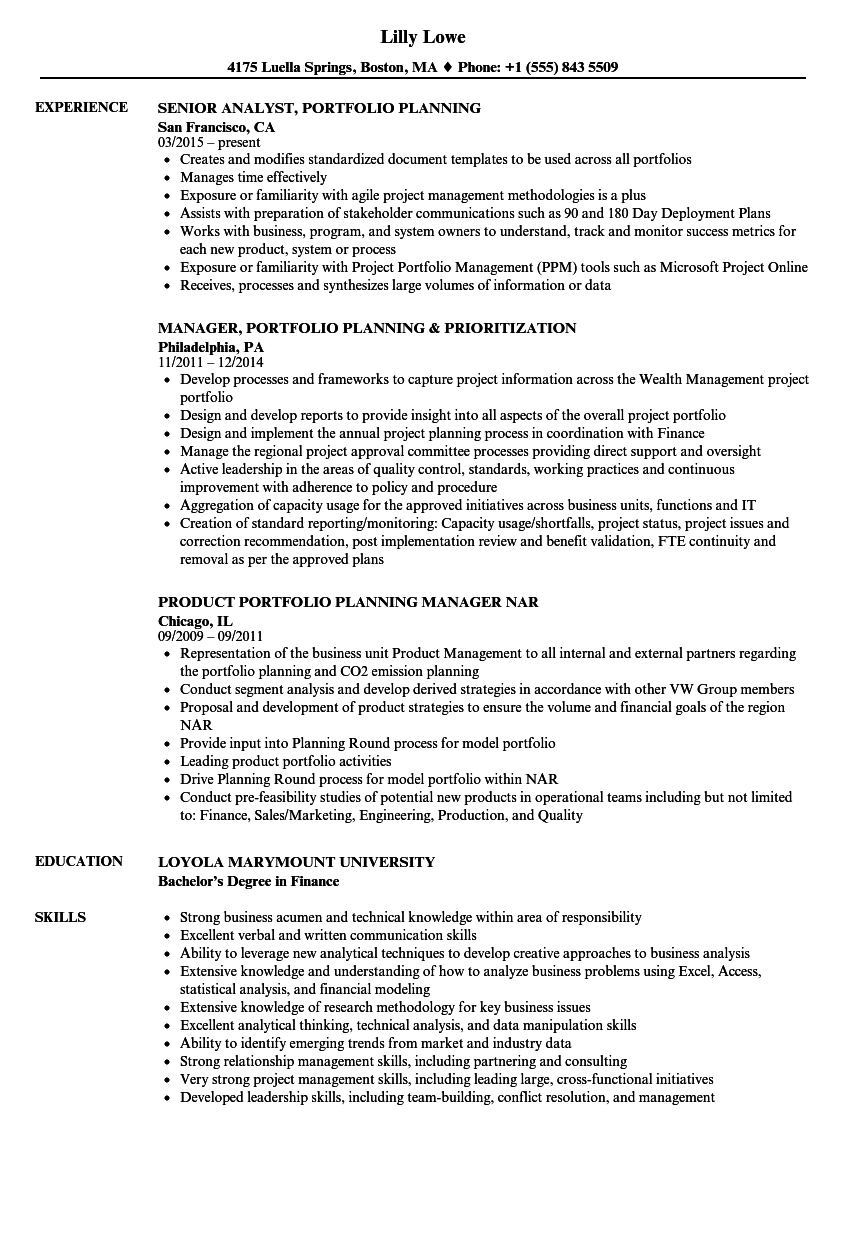 Strategic Planning Resume Examples Examples Of Resumes