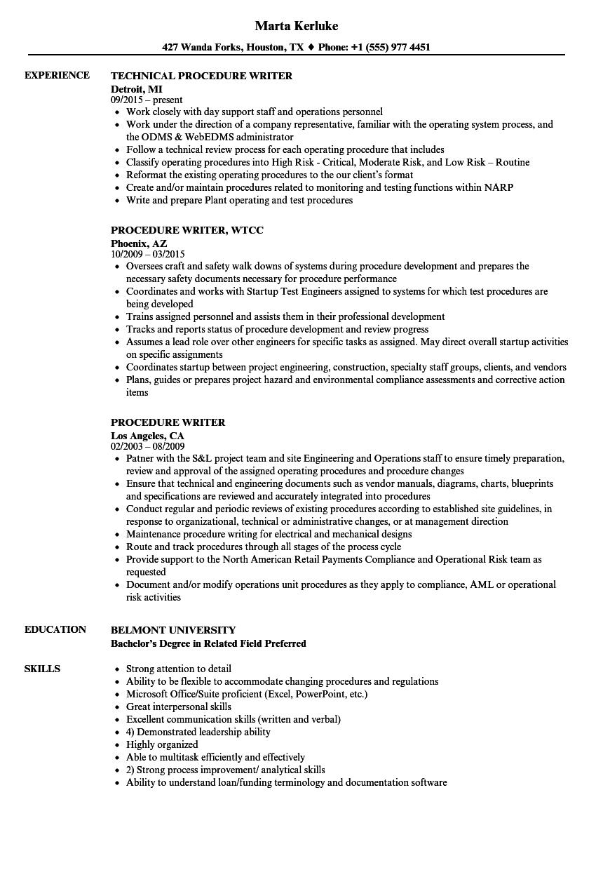 sample resume for proposal writer
