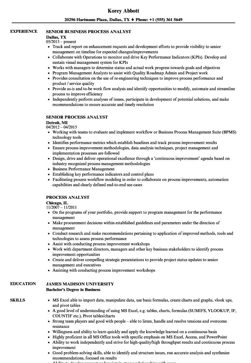 resume builder for business analyst