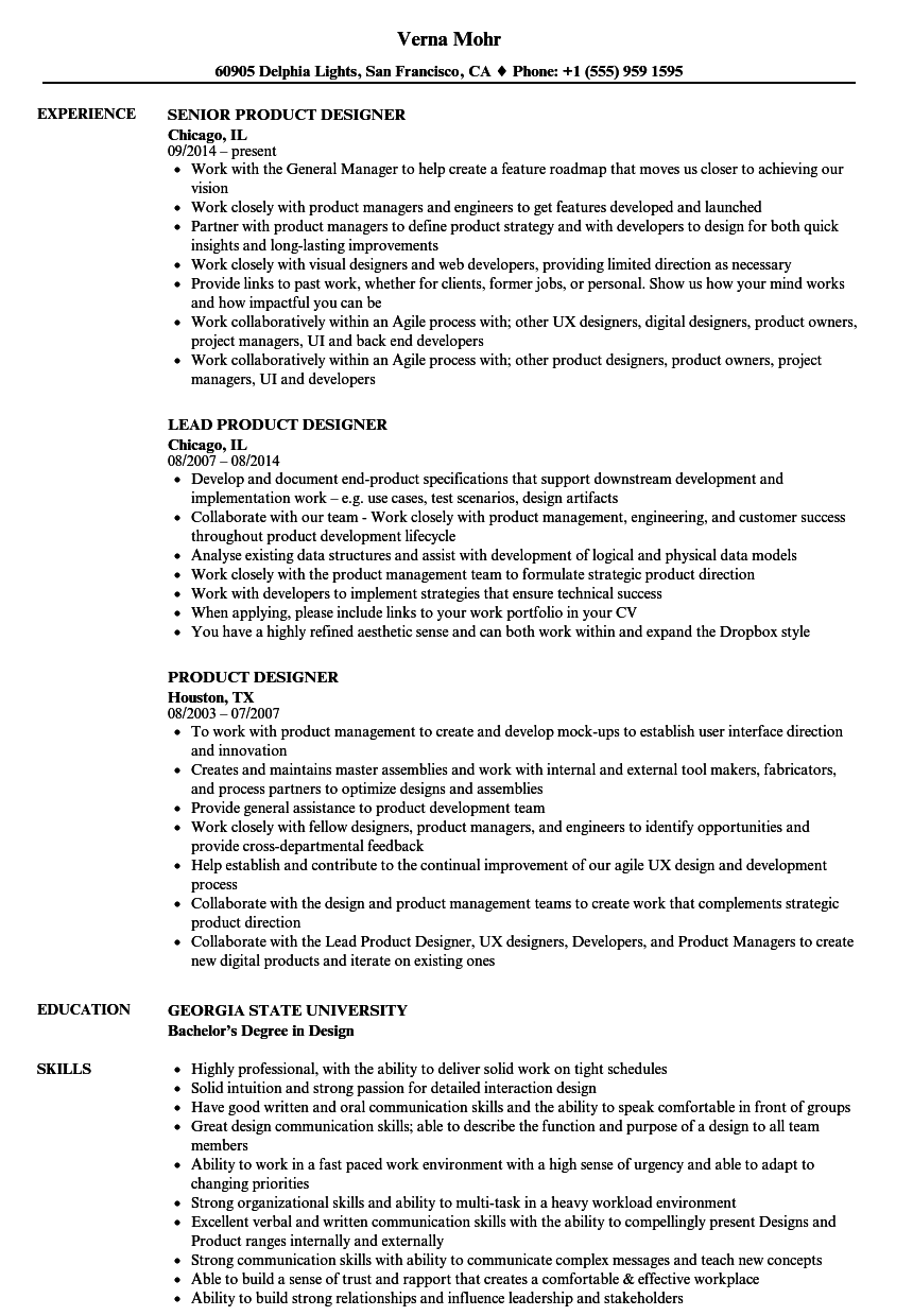 sample resume with color