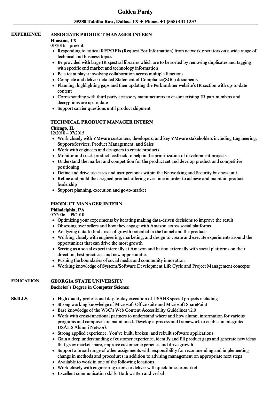 Internship Resume Objective | | Amplifiermountain.org