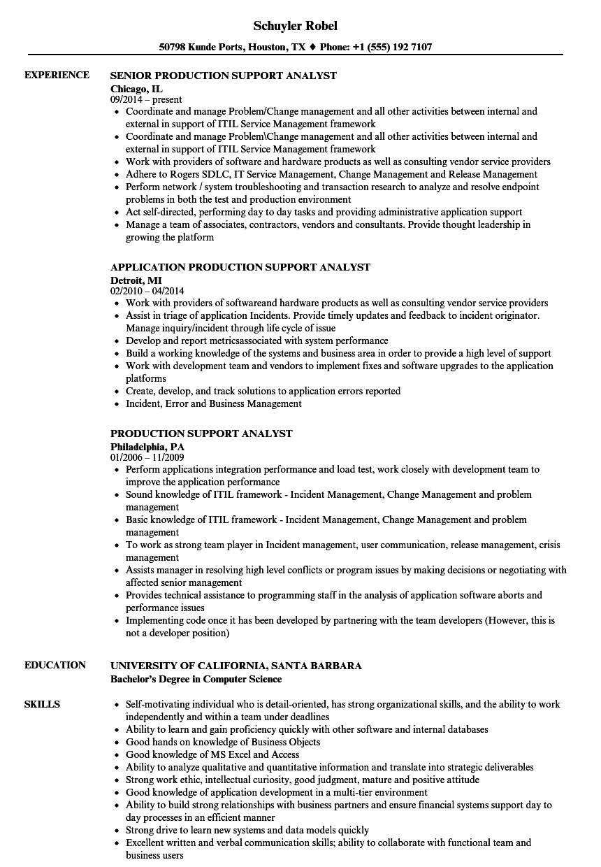 report analyst sample resume