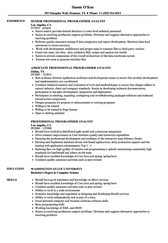 programmer resume examples australia