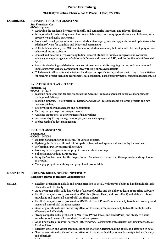 Project Assistant Resume Samples Velvet Jobs Rh Velvetjobs Com Radiologic  Technologist Resume X-Ray Technologist Resume