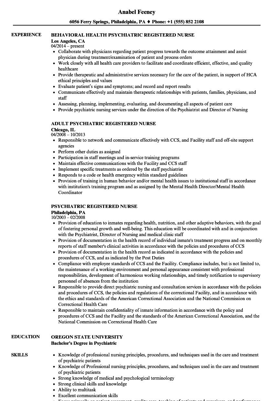 sample resume for nurse