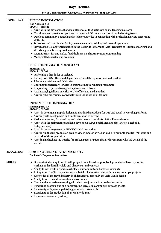 dept of labor resume samples