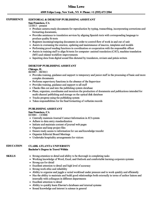 Publishing Resume Resume Ideas