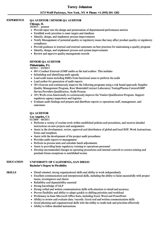 sample resume of qa lead